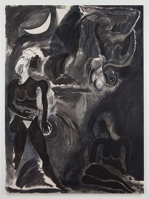 Three Figures at Night Beneath the Moon, 2012